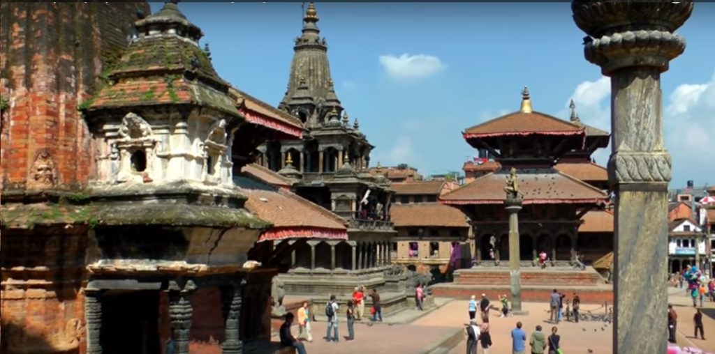 Patan Durbar Square in Nepal visiters from all over the world