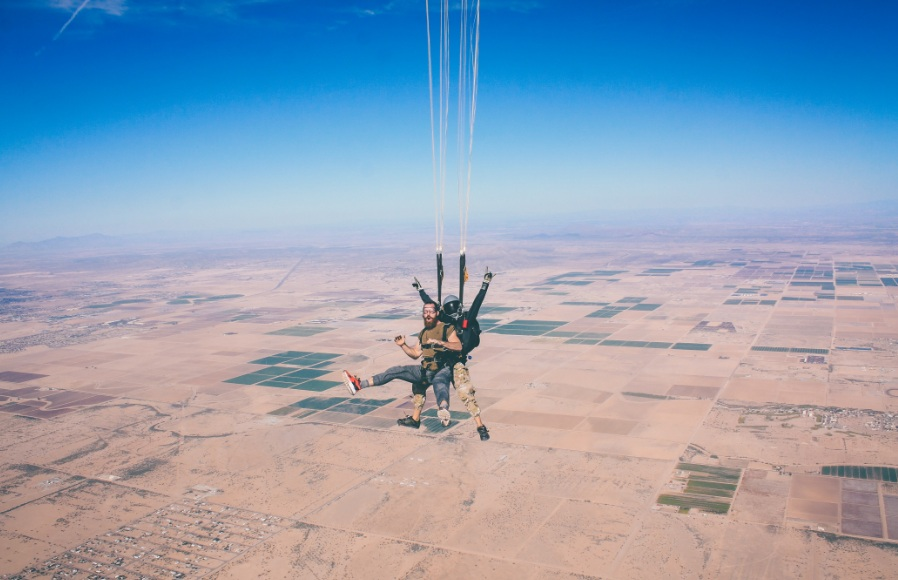 Skydive double jump